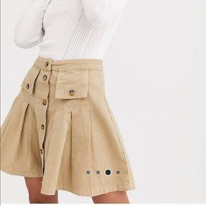 Asos denim pleated skirt